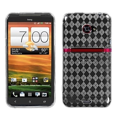 Insten® Argyle Candy Skin Cover For HTC EVO 4G LTE, T-Clear Pane