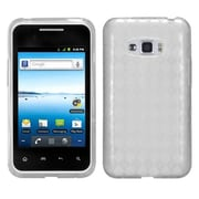 Insten® Protector Case For LG Optimus Elite, Clear Check