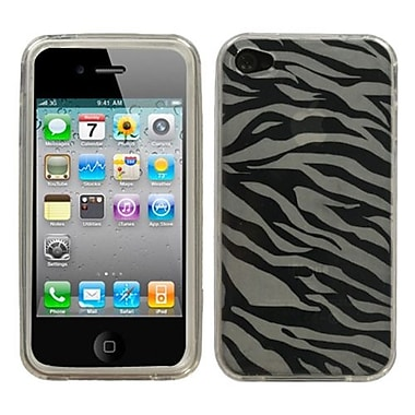 Insten® Argyle Candy Skin Cover F/iPhone 4/4S, T-Clear Zebra Skin
