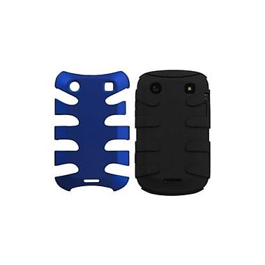 Insten® Fishbone Phone Protector Case For BlackBerry 9930/9900, Titanium Dark Blue/Black