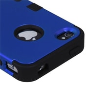 Insten® TUFF Hybrid Phone Protector Cover F/iPhone 4/4S, Titanium Dark Blue/Black