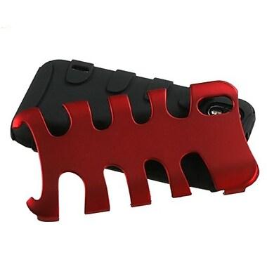Insten® Protector Case For LG LS855/Marquee, Titanium Red/Black Fishbone