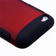 Insten® TUFF Hybrid Protector Cover For iPod Touch 4th Gen, Titanium Red/Black
