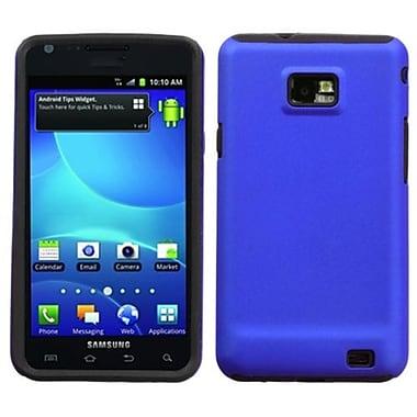 Insten® Fusion Faceplate Case F/Samsung I777 (Galaxy S II) AT&T, Titanium Solid Dark Blue