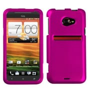 Insten® Protector Case For HTC EVO 4G LTE, Titanium Solid Hot-Pink