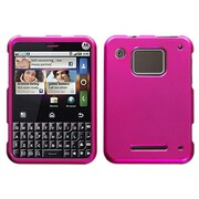 Insten® Protector Cover For Motorola Charm MB502, Titanium Solid Hot-Pink