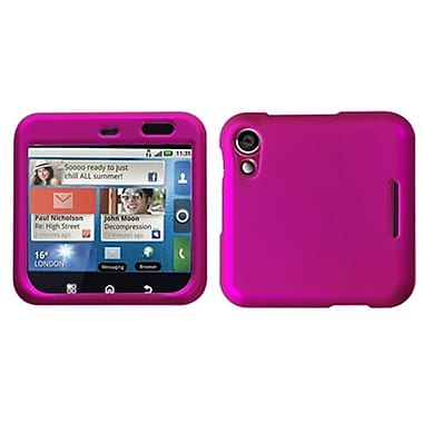 Insten® Protector Case For Motorola MB511, Titanium Solid Hot-Pink