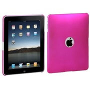 Insten® Back Protector Cover For iPad, Titanium Solid Hot-Pink Ring