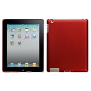 Insten® Back Protector Cover For iPad 2/3/4, Titanium Solid Red