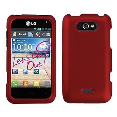 Insten® Protector Cover For LG MS770, Titanium Solid Red