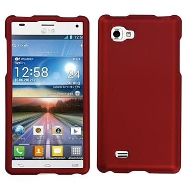 Insten® Protector Cover For LG P880 Optimus 4X HD, Titanium Solid Red