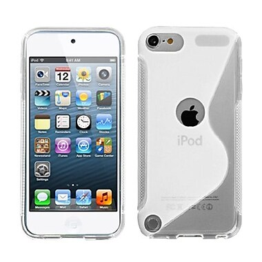 Insten® S-Shape Candy Skin Cover For iPod Touch 5th Gen, Transparent Clear