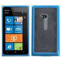 Insten® Gummy Cover For Nokia Lumia 900, Transparent Clear/Solid Baby Blue