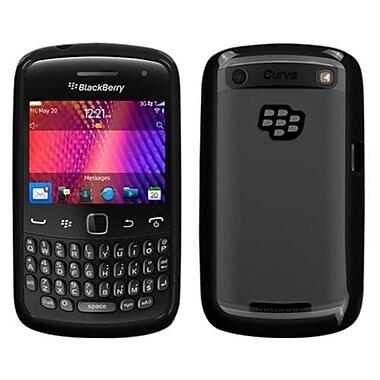 Insten® Gummy Cover For BlackBerry 9370/9360/9350, Transparent Clear/Solid Black