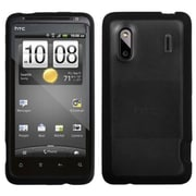 Insten® Gummy Cover For HTC Hero 4G/Kingdom/ADR6285/EVO Design 4G, Transparent Clear/Solid Black
