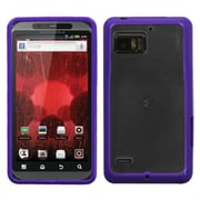 Insten® Flexible Protector Case For Motorola Droid Bionic, Purple