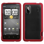 Insten® Gummy Cover For HTC Hero 4G/ADR6285 Hero S/EVO Design 4G, Transparent Clear/Solid Red