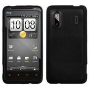 Insten® Gummy Cover For HTC Hero 4G/ADR6285 Hero S/EVO Design 4G, Transparent Smoke/Solid Black