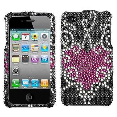 Insten® Diamante Protector Cover F/iPhone 4/4S, Trapped Heart