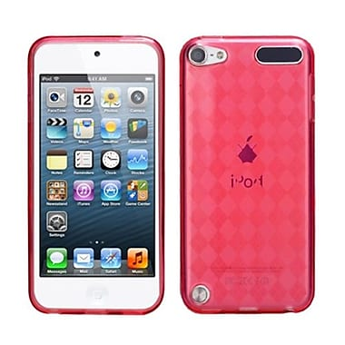 Insten® Argyle Pane Candy Skin Cover For iPod Touch 5th Gen, T-Red