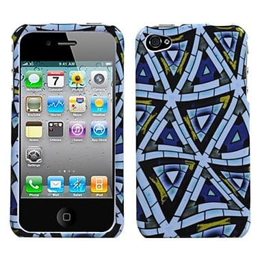 Insten® Phone Protector Cover F/iPhone 4/4S, Triangular Mosaic