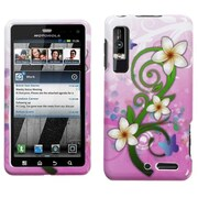 Insten® Protector Cover For Motorola XT862 Droid 3, Tropical Flowers