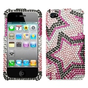Insten® Diamante Protector Cover F/iPhone 4/4S, Twin Stars