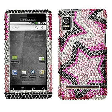 Insten® Diamante Protector Cover For Motorola A955 Droid 2/R2D2 Droid, Twin Stars