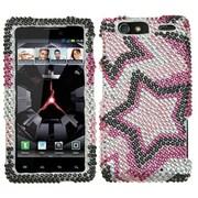 Insten® Diamante Protector Cover For Motorola XT912M Droid RAZR Maxx, Twin Stars