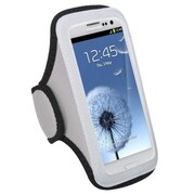 Insten® Vertical Pouch Universal Sport Armband, Gray