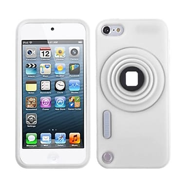 Insten® Camera Style Stand Pastel Skin Cover With Lanyard For iPod Touch 5th Gen, White