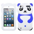 Insten® Cover For iPod Touch 5th Gen, White Panda/Dark Blue Hands