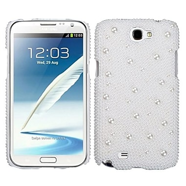 Insten® Diamante Back Protector Case For Samsung Galaxy Note II, White Pearl