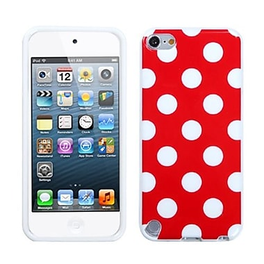 Insten® Polka Dots Design TPU Plastic Gummy Skin Phone Covers For iPod Touch 5th Gen