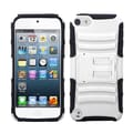Insten® Advanced Armor Stand Protector Cover For iPod Touch 5th Gen, White/Black