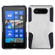 Insten® Astronoot Phone Protector Cover For Nokia Lumia 820, White/Black
