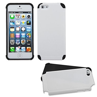 Insten® Fusion Protector Cover F/iPhone 5/5S, White/Black Frosted