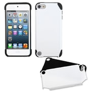 Insten® Fusion Hybrid Cover For iPod Touch 5th Gen, White/Black