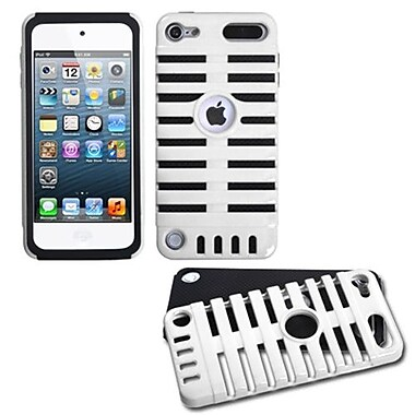 Insten® Microphone Fusion Protector Cover For iPod Touch 5th Gen, White/Black