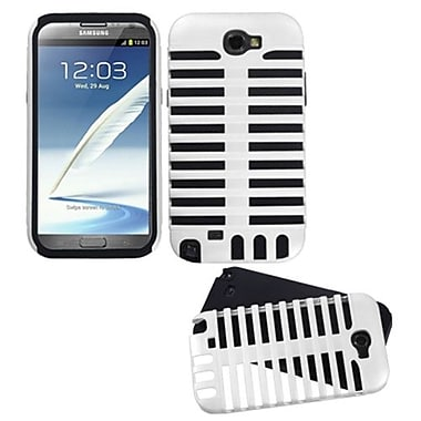 Insten® Fusion Dual Layer Hybrid Phone Protector Case F/Samsung Galaxy Note II T889, White/Black