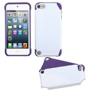 Insten® Fusion Hybrid Cover For iPod Touch 5th Gen, White/Purple
