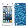 Insten® Zebra Skin Diamante Back Protector Covers For iPod Touch 5th Gen