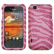 Insten® Diamante Protector Cover For LG E739 myTouch, Pink/Hot-Pink Zebra