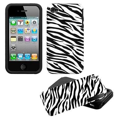 Insten® Fusion Protector Cover F/iPhone 4/4S, Zebra Skin