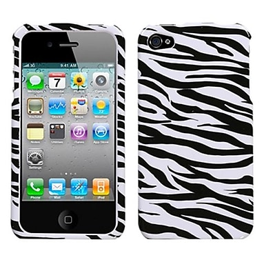 Insten® Phone Protector Cover F/iPhone 4/4S, Zebra