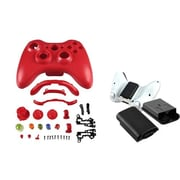 Insten® 1027548 2-Piece Game Others Bundle For Microsoft Xbox 360 Wireless Controller
