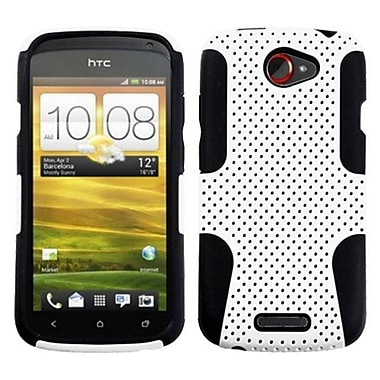Insten® Snap-In Faceplate Case For HTC-One S, Black/White