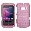 Insten® Hard Plastic Diamante Phone Protector For Alcatel One Touch 918, Pink