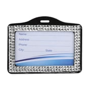 Insten® Horizontal Business Card Holder, Silver
