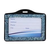 Insten® Horizontal Business Card Holder, Baby Blue